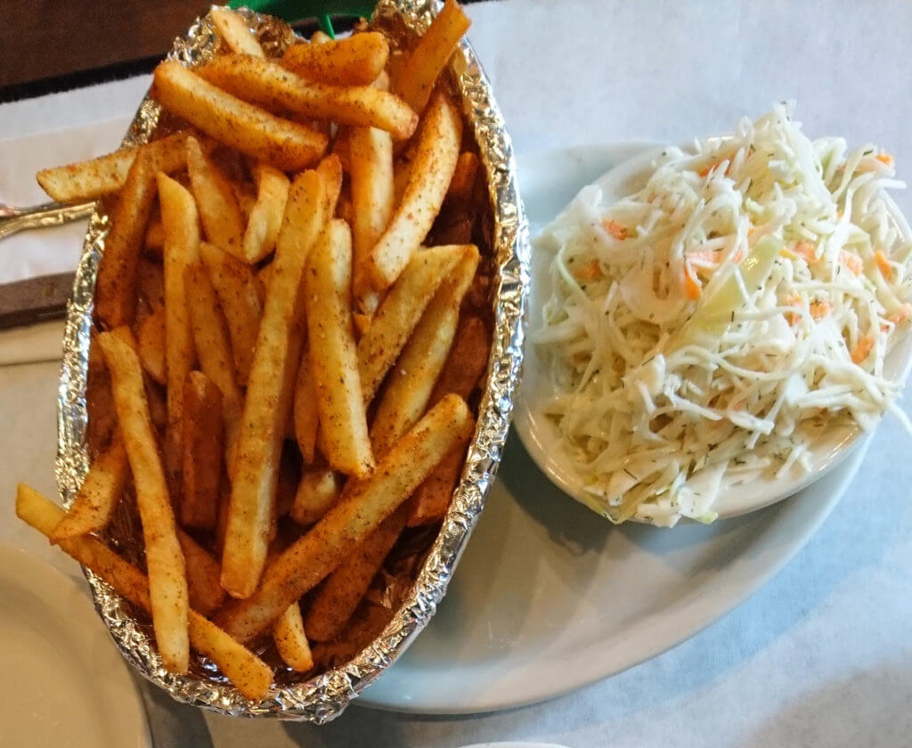 Fresh Cole Slaw and Fries