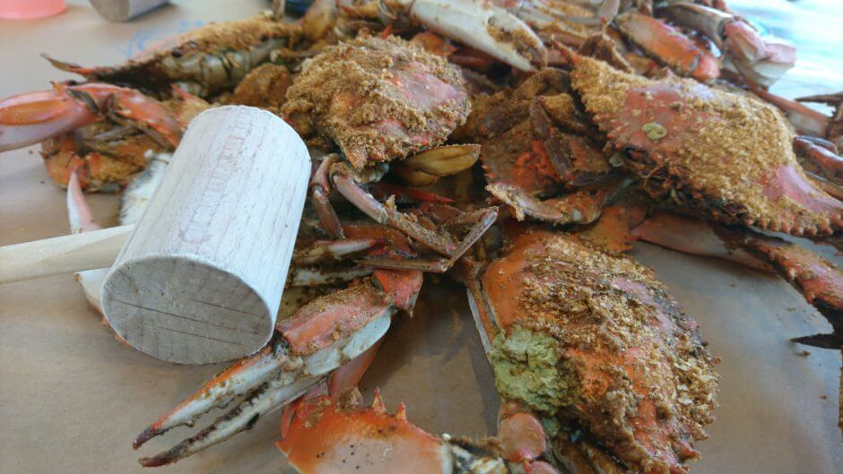 Cantler blue crabs